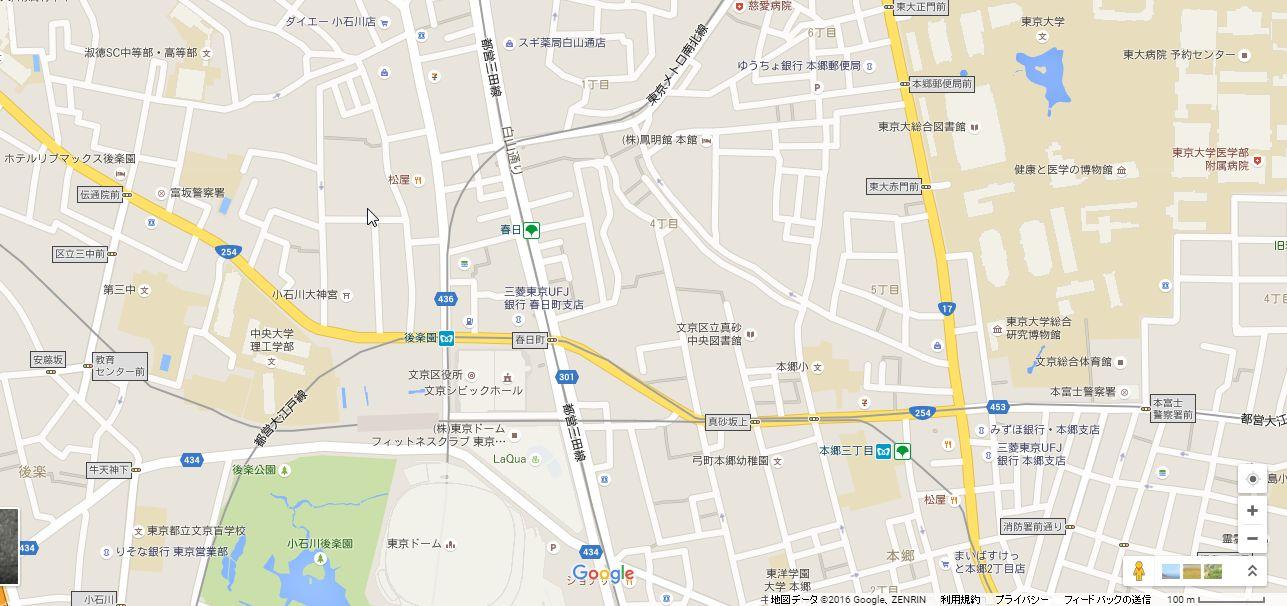 ル・サンク小石川後楽園地図
